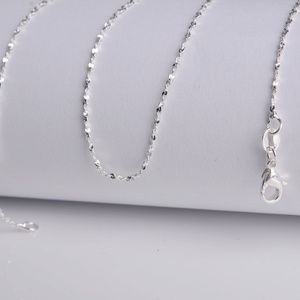 """925 Silver """"Star"""" Chain Necklace 28"""" SP"""